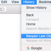 How to view and Restore Recently Closed Tabs in Safari on Mac