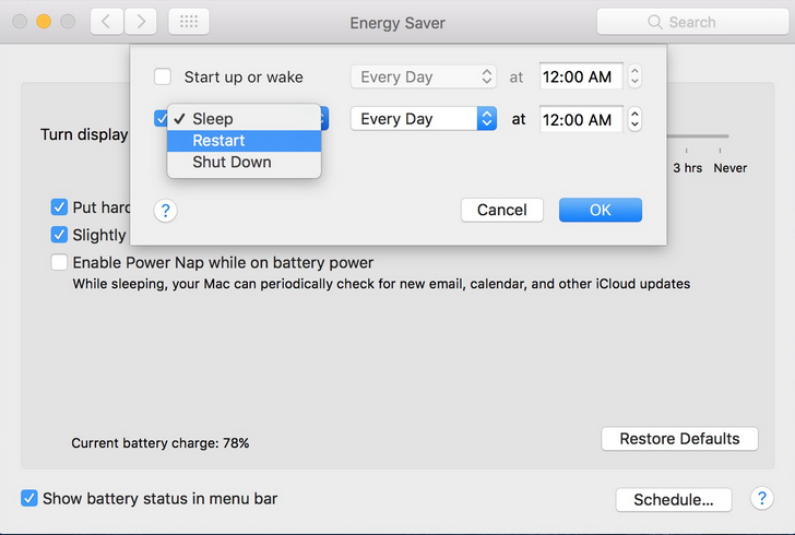 How to Schedule Your Mac's Startup, Sleep & Shutdown