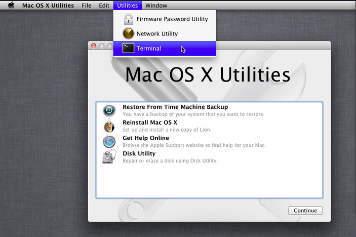 Mac How to Reset Account Password  Set up Firmware Password in Recovery Mode