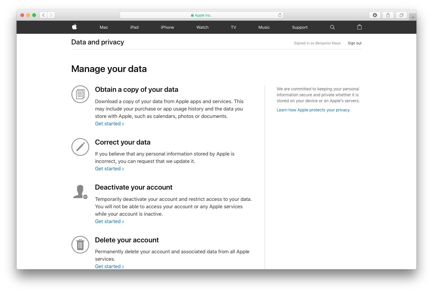 Apple Onlines New Privacy Portal for EU Users
