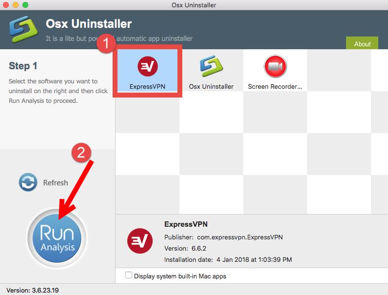uninstall ExpressVPN for mac