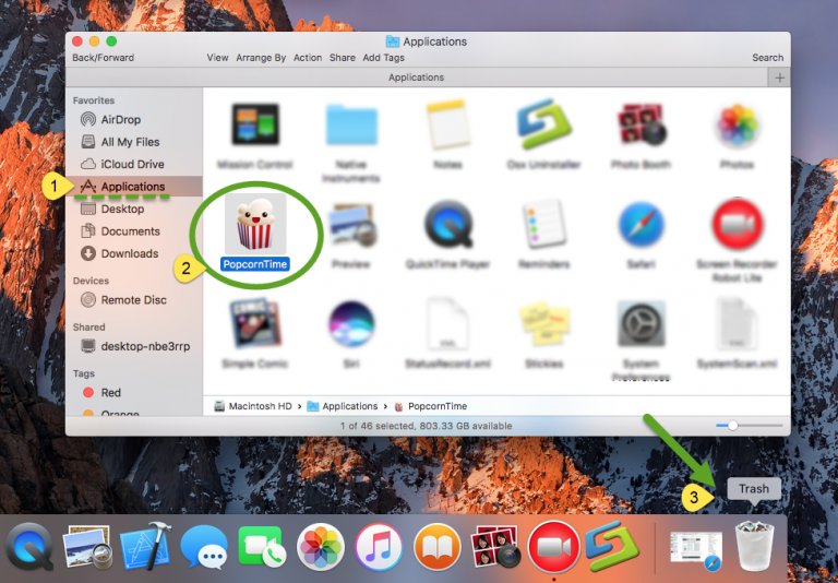 uninstall Popcorn Time for mac (2)